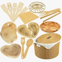 Kitchen Wooden Utensils Collection V1