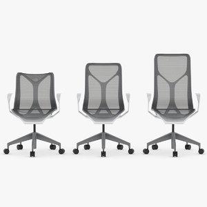 3D chair set model