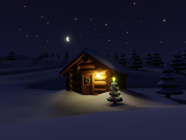 house christmas tree model