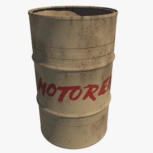 barrel motoren 3D model