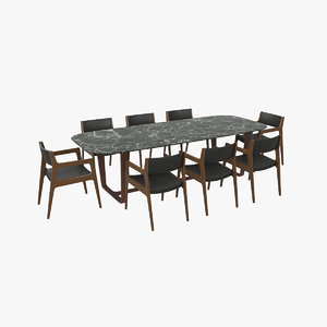 dining table v2 3D model