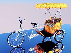 3D bike rickshaw 2