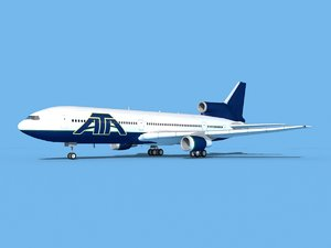 3D model lockheed l-1011-10 air