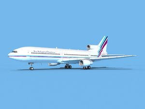 3D lockheed l-1011-10 air model