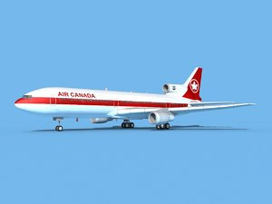 3D lockheed l-1011-10 air