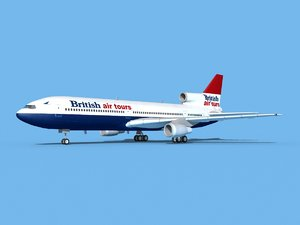 3D lockheed l-1011-10 air model