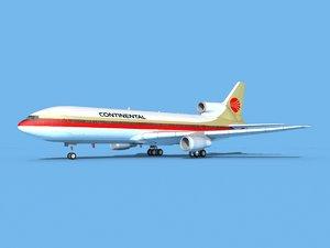 lockheed l-1011-10 continental 3D model