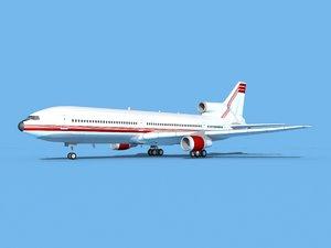 3D lockheed l-1011-10 model