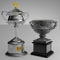 Australian Open Women and Men Singles Trophy L506