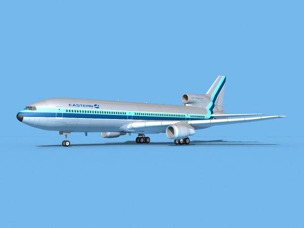 3D lockheed l-1011-10 airliner model