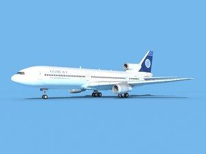 3D lockheed l-1011-10 jet