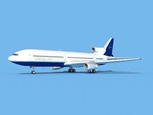 3D lockheed l-1011-10 air