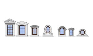 3D 7 classical windows model