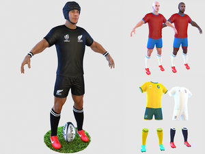 rugby player 4k model