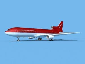 3D model lockheed l-1011-10 air