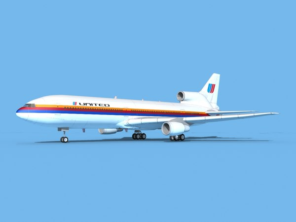 3D lockheed l-1011-10 airliner