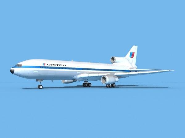 lockheed l-1011-10 airliner 3D