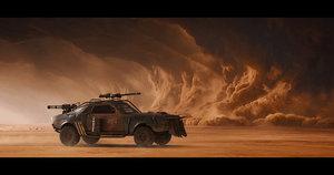 3D post-apocalyptic concept car model