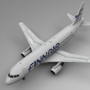 3D finnair airbus a320 l510 model