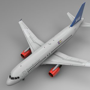 scandinavian airlines airbus a320 3D model