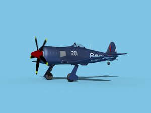3D model propeller hawker sea fury