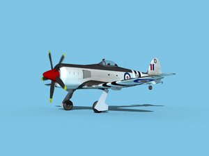propeller hawker sea fury 3D