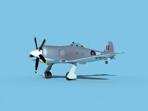 propeller hawker sea fury 3D model