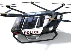 hydrogen powered police drone 3D