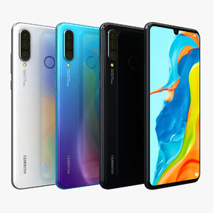 3D model huawei p30 lite color