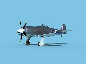 3D propeller hawker sea fury