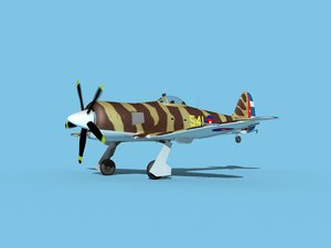 propeller hawker sea fury model