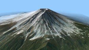 landscape mount fuji model