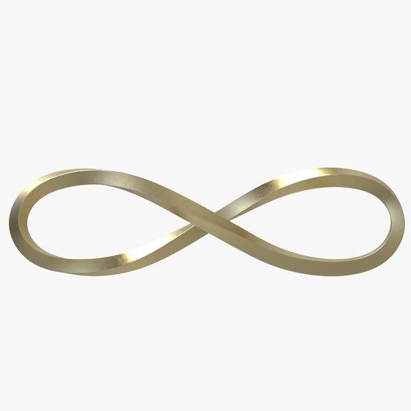 infinity loop symbol 3D
