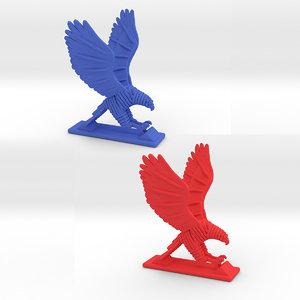 hawk print 3D
