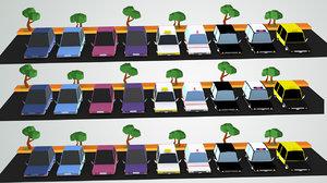 3D toon car pack model
