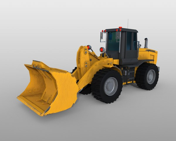 wheel loader pbr model