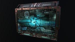 3D sci-fi billboard model