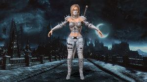 3D model assasin girl