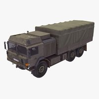 3D model 6x6 military truck