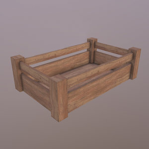 3D model crate ready unity