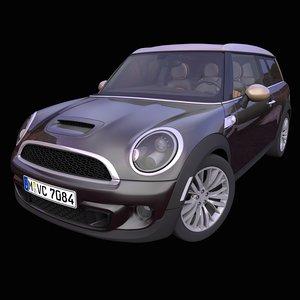 3D generic british compact wagon