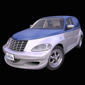 generic american panel hatchback 3D
