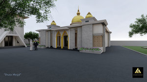 3D indonesian mosque