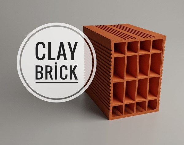 clay red 3D model