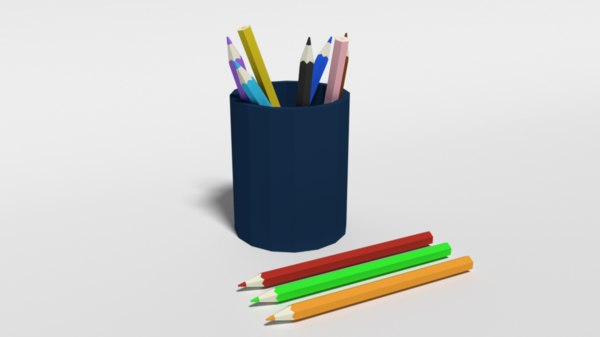 colored pencils 3D