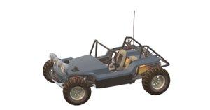 3D mesa dune buggy car model