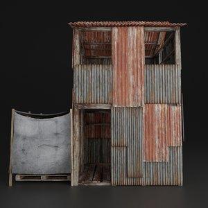 house abandoned slum model