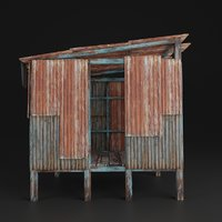 SLUM HOUSE REALISTIC OLD