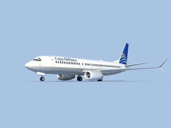 3D boeing 737-8 airliner model