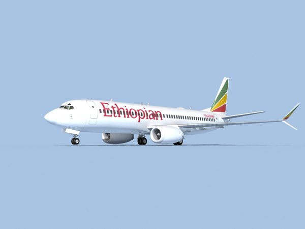 3D boeing 737-8 airliner